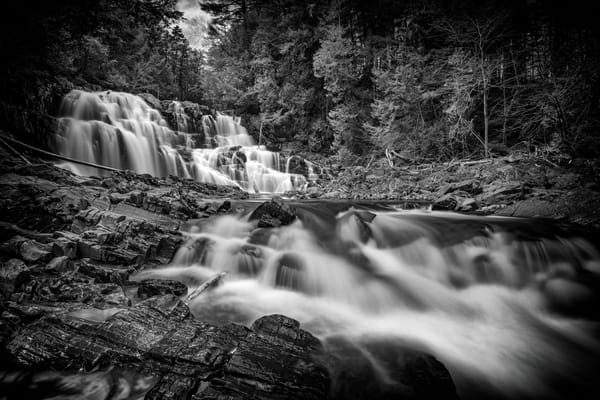 Houston Brook Falls in Black & White | Shop Photography by Rick Berk