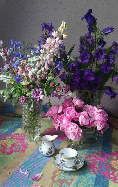 Still Life With Flowers And Tea Cup Art | smalljoysstudio