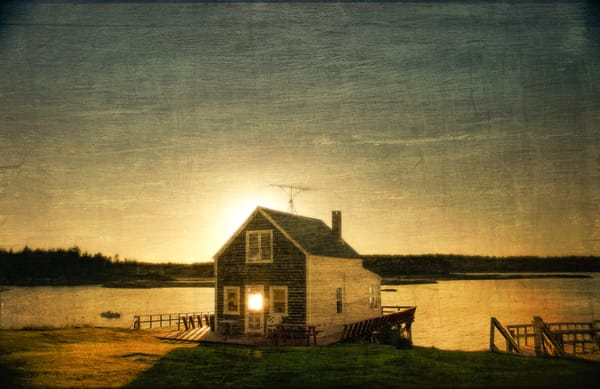 Cottage Silhouette   Limited Edition Print Photography Art | Doug Landreth Photography