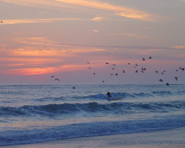 Surfer At Sundown Photography Art | It's Your World - Enjoy!