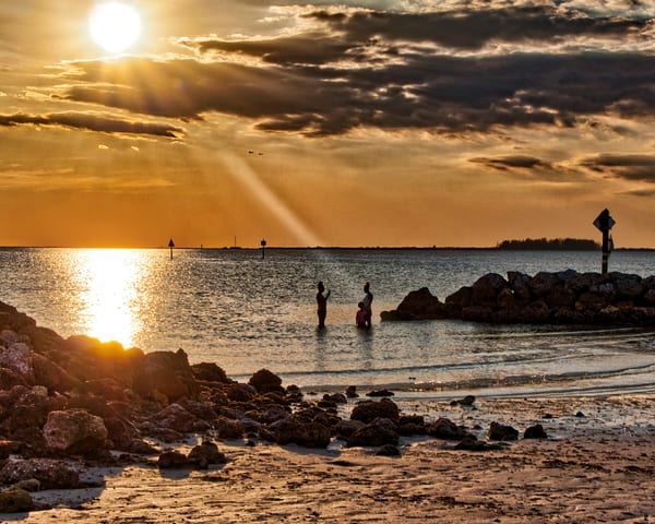 Sun Rays On Beach Photography Art | It's Your World - Enjoy!