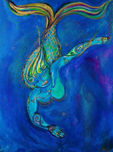 Qui1096 Zen Mermaid Art Store Print Art   DuggArt