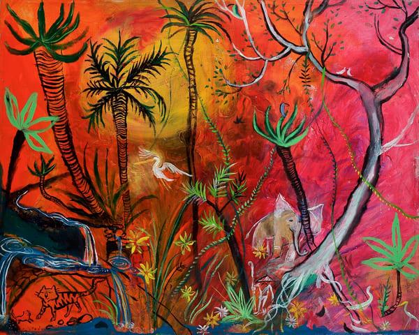 Qui1087 Tiger Fruit Cave Art Store Print Art   DuggArt