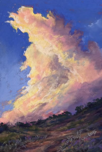 Lindy C Severns Art | Golden Lining original pastel skyscape
