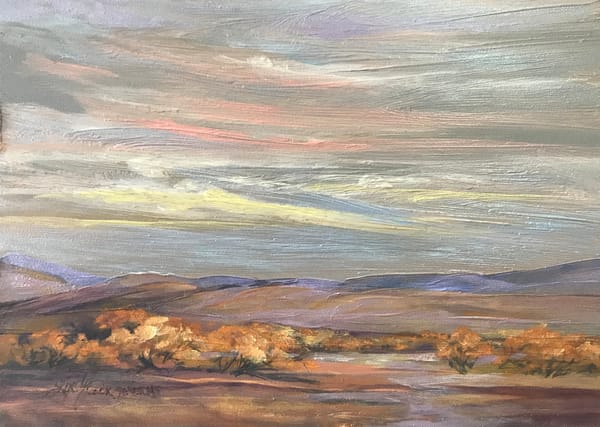 Cottonwoods in the Desert original oil painting | Lindy Cook Severns