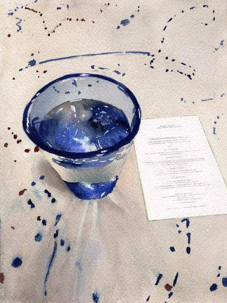 Menu of Blue Glass