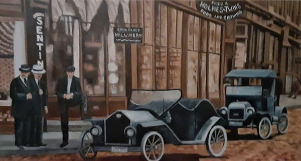 Car Talk - Original Oil Painting