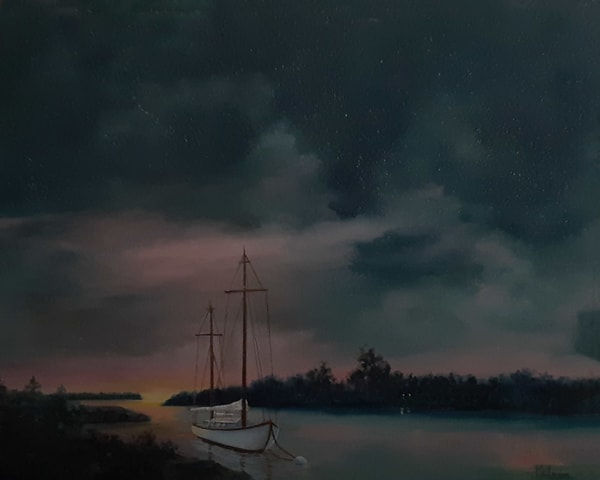 Night or Day, Original Oil Painting