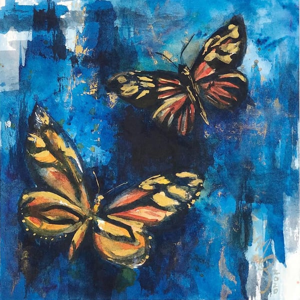 Blue And Orange Art | Marian Pham Art LLC