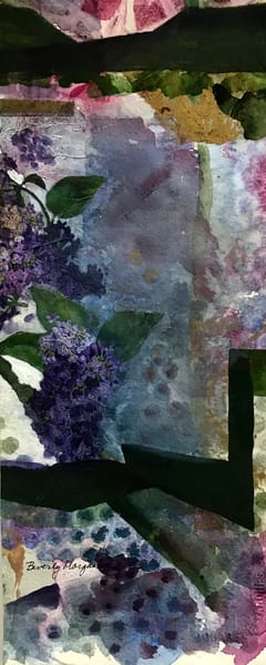 Lilac Garden - From an Original Watercolor Painting