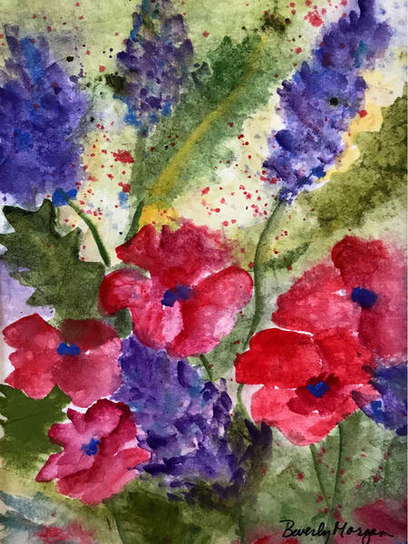 Spring Wild Flowers, From an Original Watercolor Painting