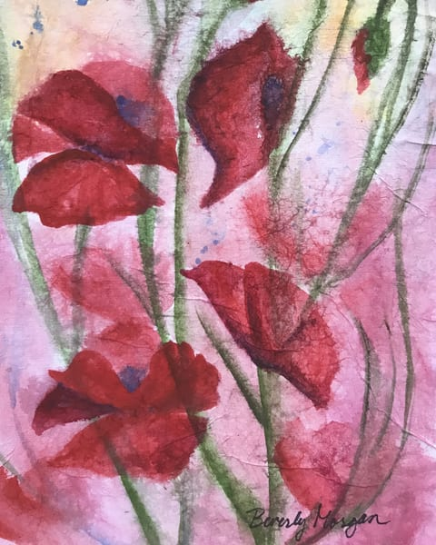 Poppies for Joy, From an Original Watercolor Painting