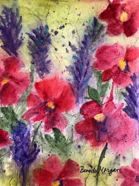 Poppies, From an Original Watercolor Painting