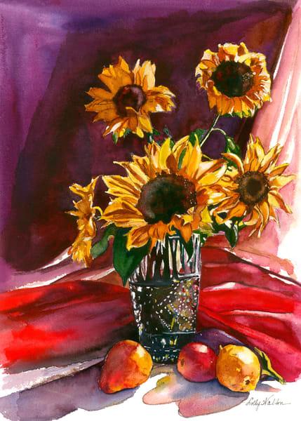Harvest Bouquet, Original Watercolor Painting