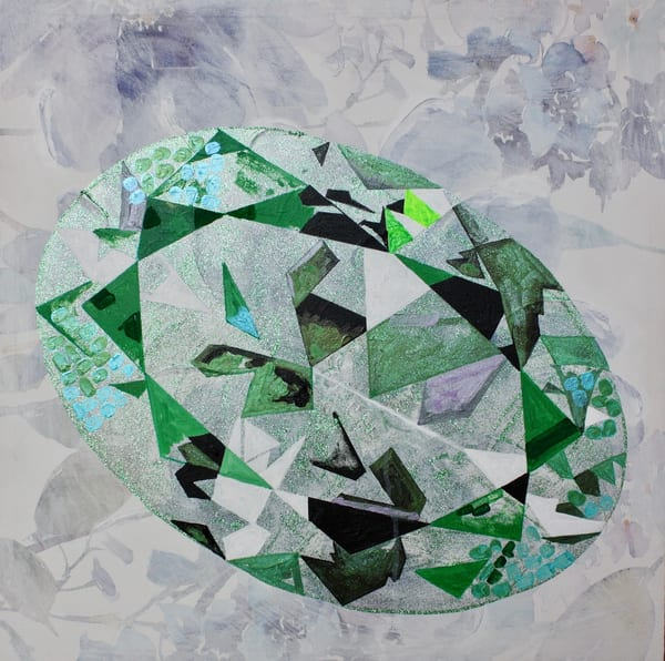 'Oya' Oval Cut Diamond  Art   Cool Art House - online art gallery with hip emerging artists. Collect cool art you can view on your own wall before you invest!
