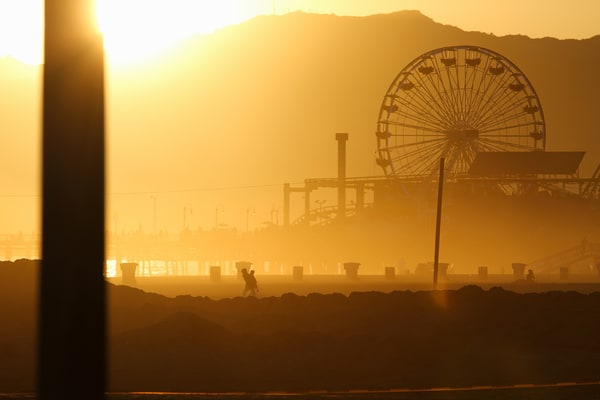 Santa Monica Pier Silhouette Photography Art | Michael Scott Adams Photography