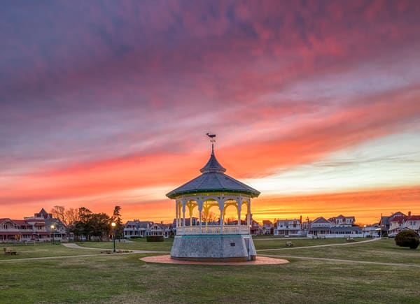 Bandstand Spring Sunset Art | Michael Blanchard Inspirational Photography - Crossroads Gallery