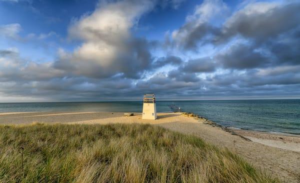 Inkwell Beach Spring Clouds Art   Michael Blanchard Inspirational Photography - Crossroads Gallery
