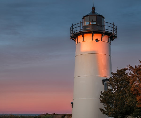 East Chop Light Spring Sunset Art | Michael Blanchard Inspirational Photography - Crossroads Gallery