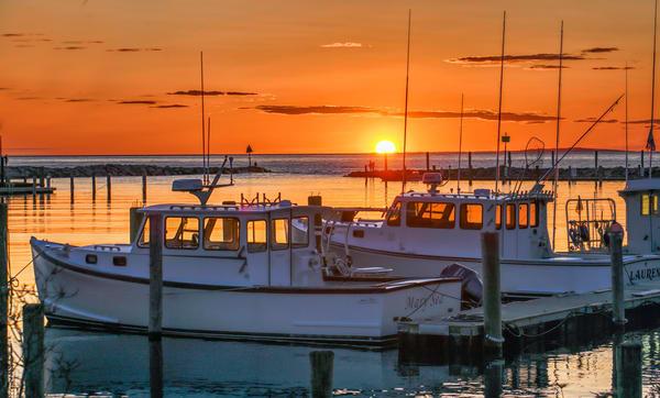 Menemsha Fishing Boat Sunset Photography Art | Michael Blanchard Inspirational Photography - Crossroads Gallery