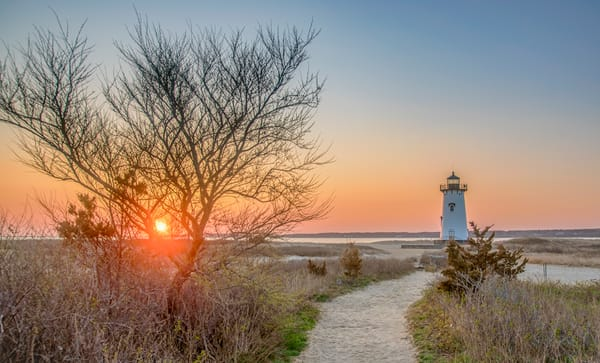 Edgartown Light Spring Sunrise Art | Michael Blanchard Inspirational Photography - Crossroads Gallery