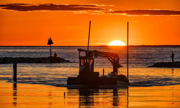 Menemsha Mooring Tender Sunset Photography Art | Michael Blanchard Inspirational Photography - Crossroads Gallery