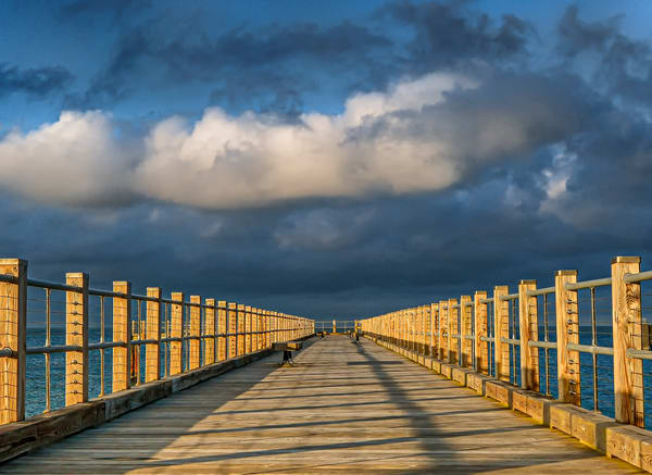 Oak Bluffs Pier Storm Clouds Art | Michael Blanchard Inspirational Photography - Crossroads Gallery