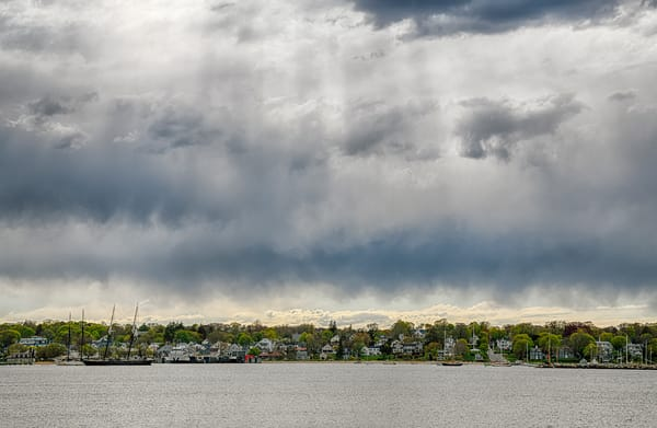 Vineyard Haven Harbor Spring Clouds Photography Art | Michael Blanchard Inspirational Photography - Crossroads Gallery