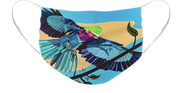Bird Face Mask   Cortney Wall Fine Art