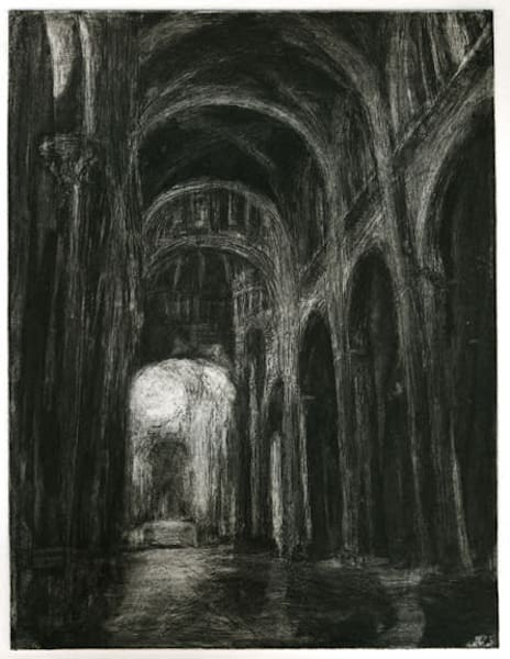 Journey: Siena Duomo Etching   Handpulled Copperplate Architecture Etching Art | Michelle Arnold Paine Fine Art