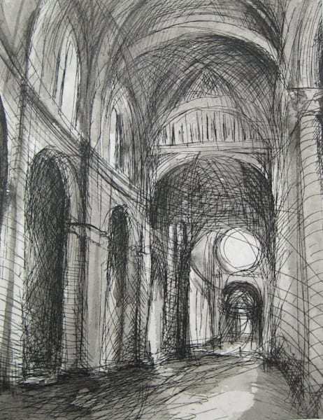 Journey: Siena Duomo Etching And Mixed Media   Handpulled Copperplate  Art | Michelle Arnold Paine Fine Art