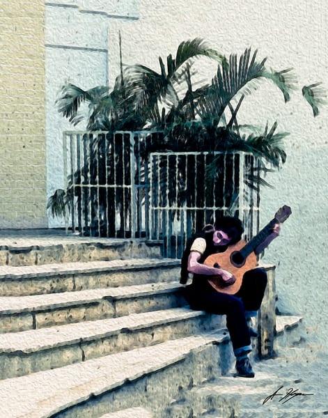 Caracas Street Serenade Art   Hogan's Harbor Art Gallery