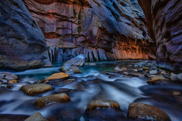 Navigating the Narrows Photograph 2906 | Zion Narrows | Zion National Park | Canyon Photography | Koral Martin Fine Art Photography