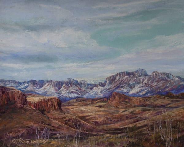Lindy Cook Severns Art   Winter Sky on the Rio Grande, original pastel