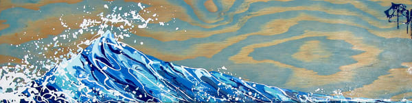 Wave Of Joy, Natural Turquoise Blue Art | buchanart