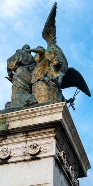 Angels at the 'Altar of the Fatherland' by Jeremy Simonson