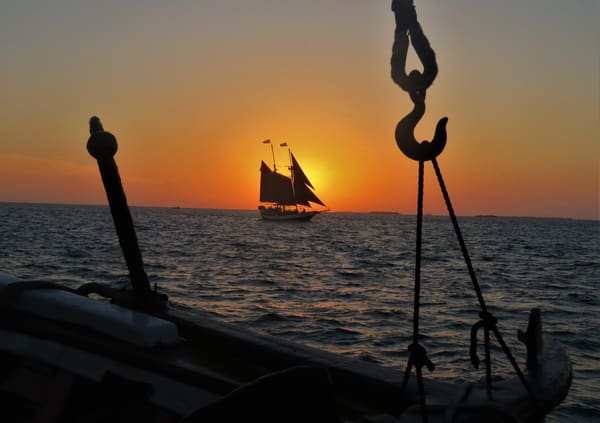 Sailboat At Sunset Key West Art | DocSaundersPhotography
