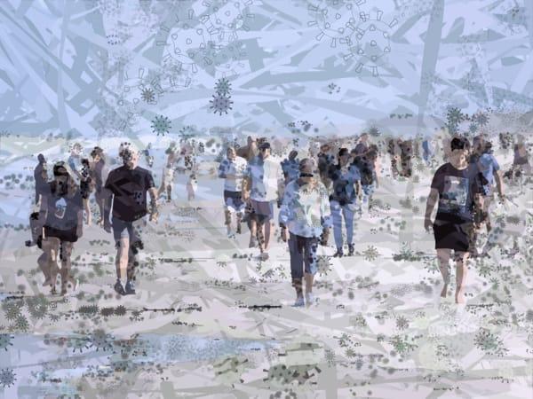 Corona Virus Art, COVID19, ARTdemic, art-show by Peter McClard, Jacksonville Beach, Jacksonville, FL