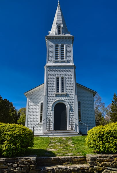 Afternoon At South Ferry Church Narragansett by Keith R Wahl, Made From RI Gallery