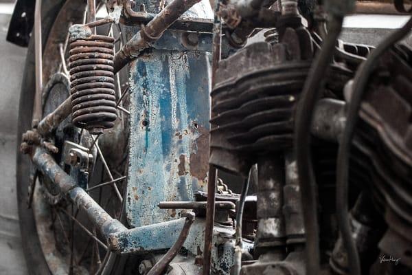 Blue Motorcycle Photography Art | Koru Photo Designs