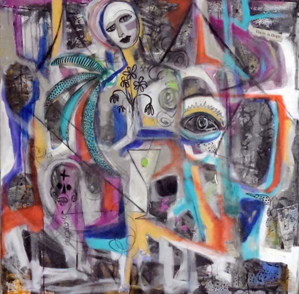 Street Art Madonna Painting On Canvas 50 X 50 Art   MardisArt