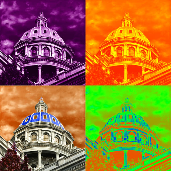Co State Capital Twist Art | MMG Art Studio | Fine Art Colorado Gallery