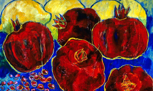 Pomegranates And Lemons Art | Joan Cox Art