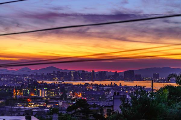 San Diego City Sunrise From Point Loma Heights Fine Art Print Art | McClean Photography