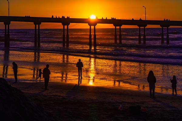 Family Values In Ocean Beach, San Diego Fine Art Print Art | McClean Photography
