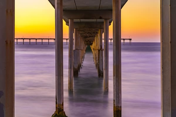 Ocean Beach, San Diego Pier Sunset