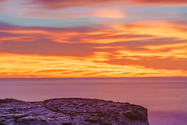 Ocean Beach, San Diego Burning Sunset Art | McClean Photography