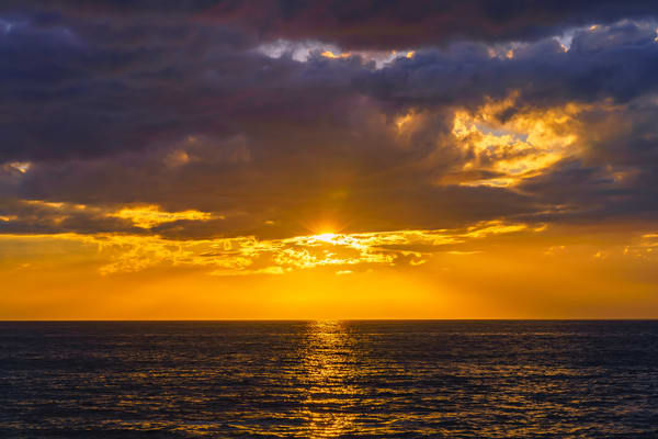 Sunset Cliffs, San Diego Golden Sunset Fine Art Print by McClean Photography