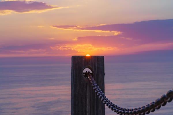 Sunset On Post At Gliderport, La Jolla Fine Art Print Art | McClean Photography