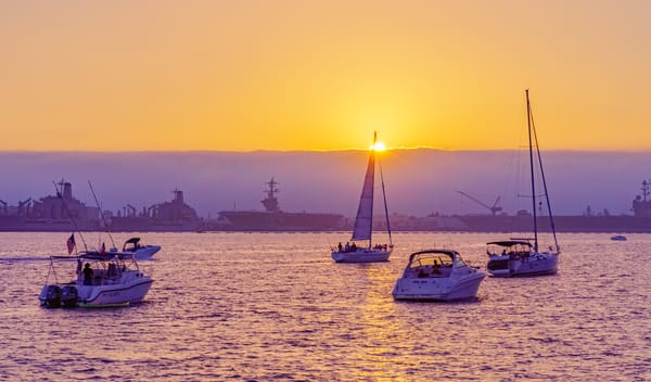 Boats In Harbor In San Diego Fine Art Print Art | McClean Photography